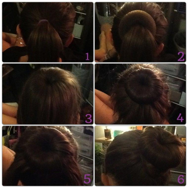 Tuto coiffure 1 : chignon avec un donut