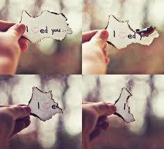 Je t'aimais vraiment.. Maintenant c'est plus vraiment ça.