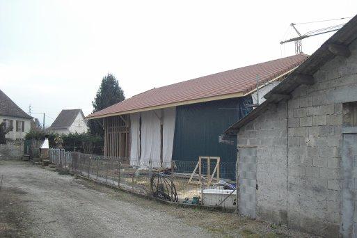 suite de la maison en paille (le toit)