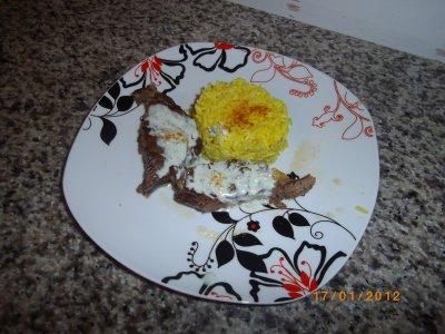 cote de beouf au four et sauce roquefort