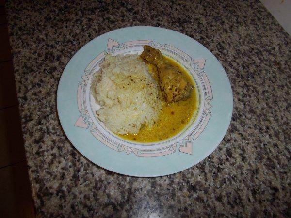 poulet sauce moutarde a l'ancienne (riz basmati)
