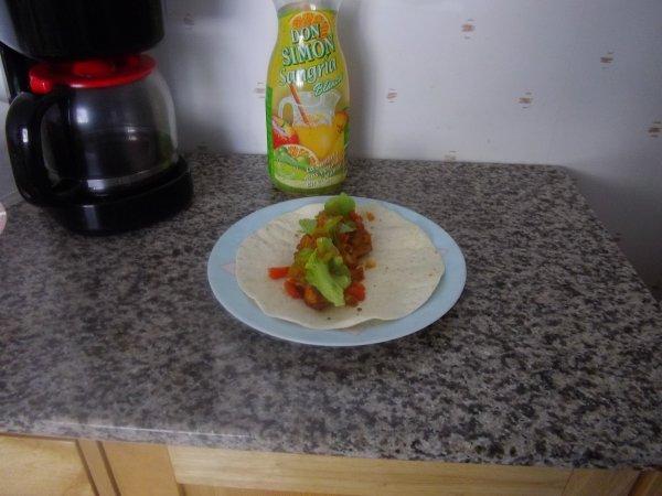 tortillas au poulet panés
