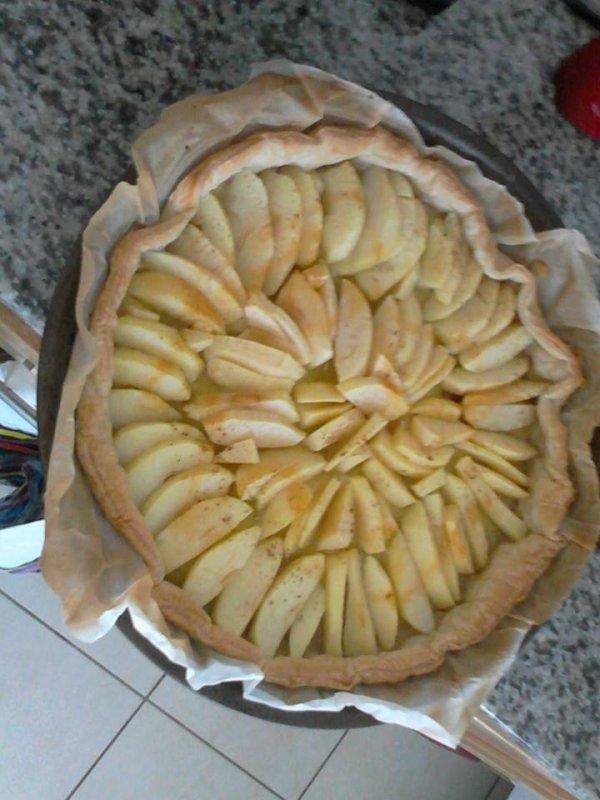 une belle tarte au ( fait par pauline ma fille )