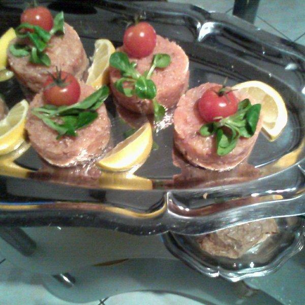 Présentation  tartare de saumon