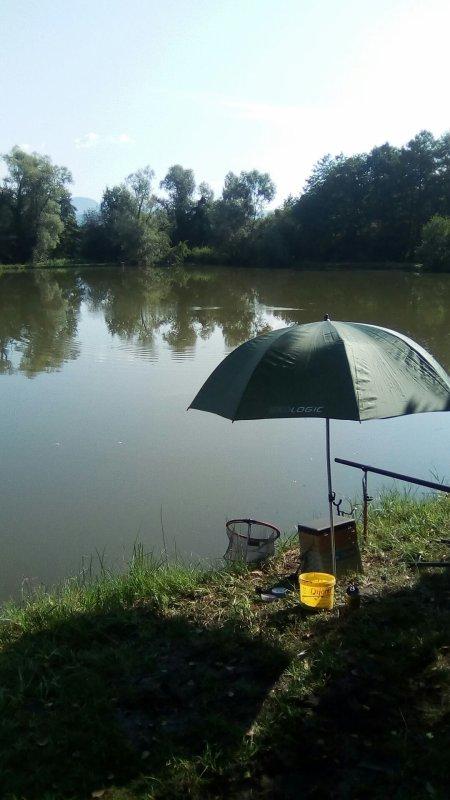 Me voici de retour a la pêche sur un autre etang