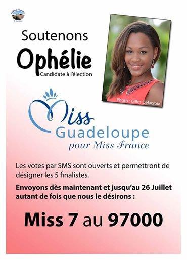 MISS GUADELOUPE. VOTEZ POU R OPHELIE. MISS 7  97 000