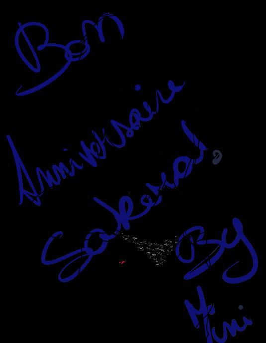 Bon anniversaire Sakera :D