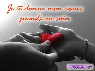 le coeure est rouge d'amour