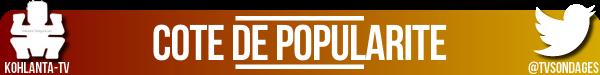 #KohLanta : Côte de popularité - Semaine 1