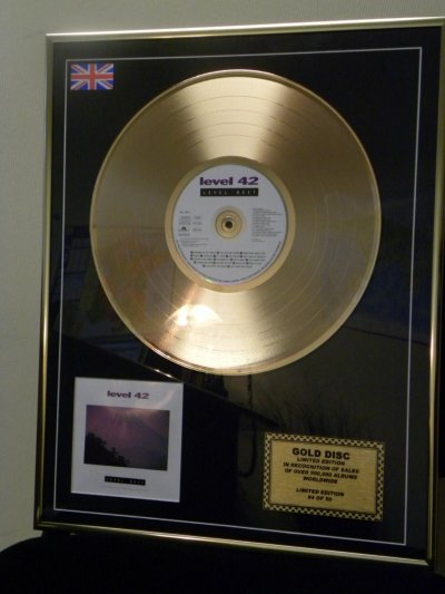 The LEVEL 42 BEST Album Gold DISC