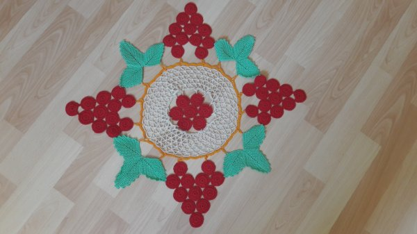 napperon au crochet fait main