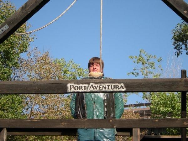 moi a Port Aventura en Espagne