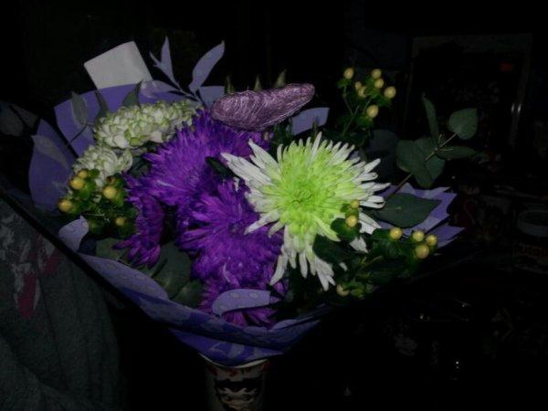 le bouquet de fleur pour ma femme que j'ai offert pour la saint valentin