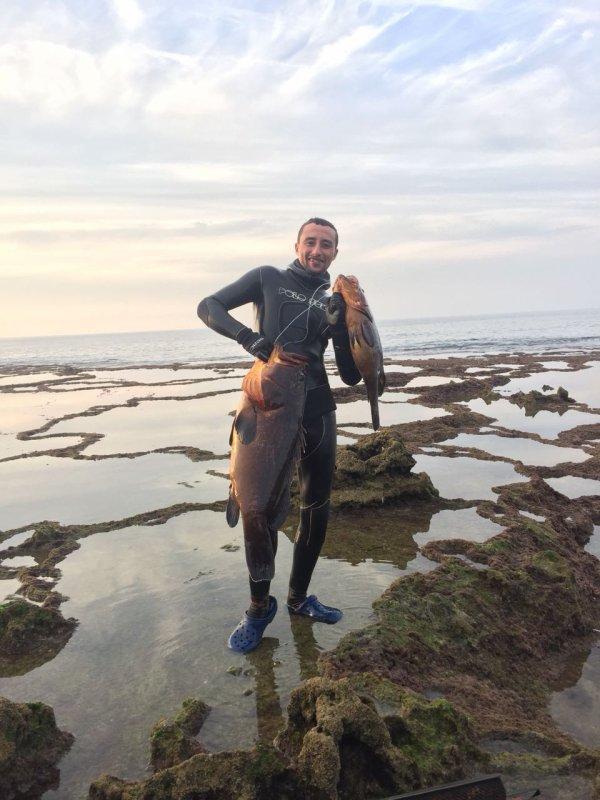 Deep spearfishing