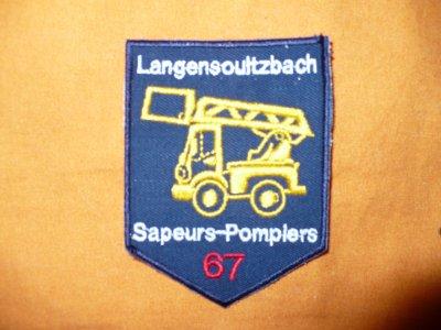ecusson pompier  c.i.s.langensoultzbach
