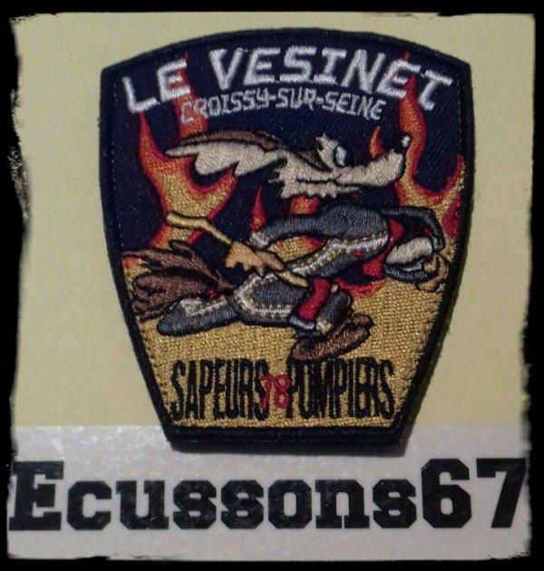 Voici l'écusson des Sapeurs Pompiers du C.I.S. Le VESINET Croissy-sur-Seine dép.78.