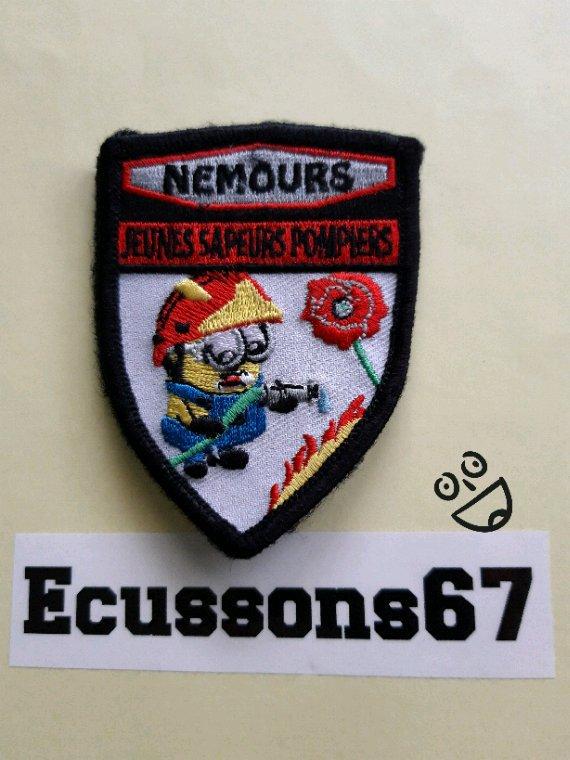 Voilà l'ecusson des jeunes  sapeurs-pompiers de Nemours dép. 77.