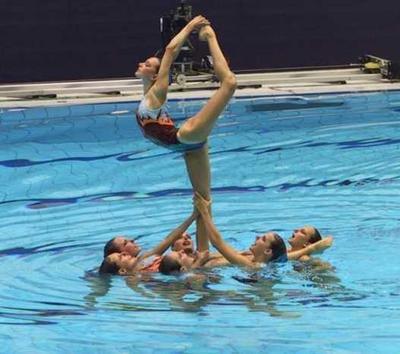 Résultat de recherche d'images pour 'photo natation synchronisée porté'