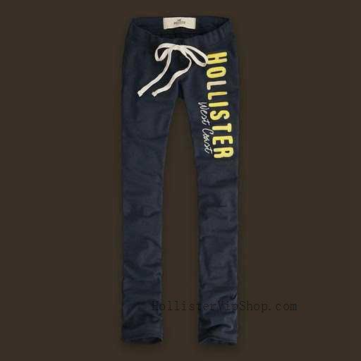 Hollister Naiset Sweatpants Keltainen Letter Musta