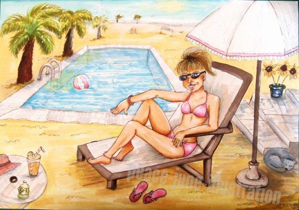 Mon dessin pour le concours  . Summertimes