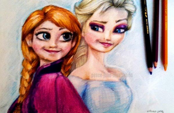 Anna & Elsa - Reine des Neiges <3