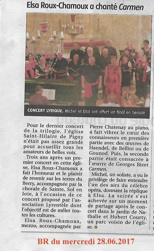 ARTICLE 199 - CONCERT A PIGNY  - BERRY REPUBLICAIN