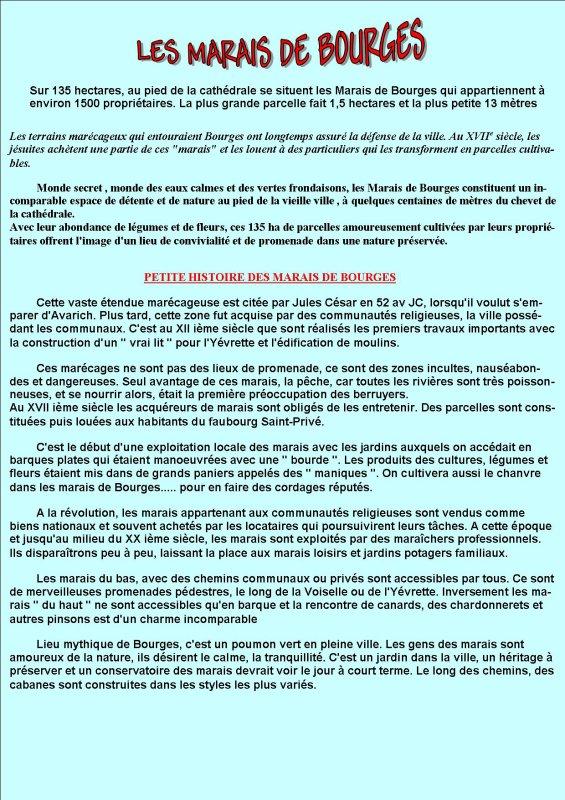 ARTICLE 218 - LES MARAIS DE BOURGES