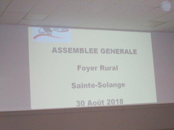 ARTICLE 229 - ASSEMBLEE GENRALE FOYER RURAL