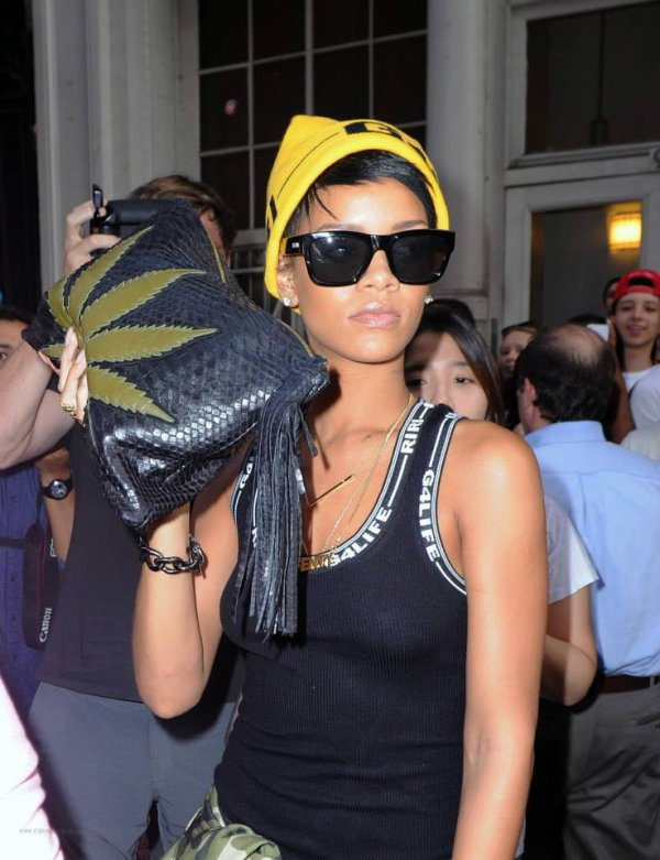 Rihanna à New York - 22 août 2013