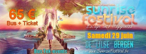 "Bus pour  "" Sunrise festival "" - samedi 29 juin 2013"
