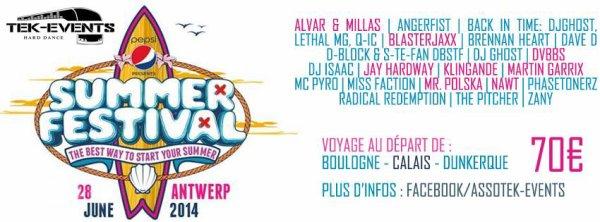 Bus Summerfestival , samedi 28 juin - Anvers