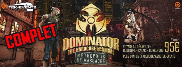 Bus pour Dominator festival - 19 juillet 2014