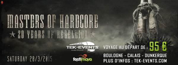 Bus pour Masters Of Hardcore - 28 mars 2015 , Hollande !!