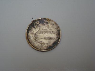 une piece de 20 francs 1952
