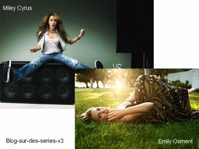 Miley Cyrus VS Emily Osment