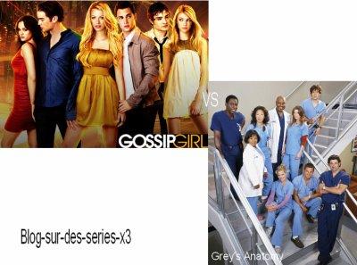 Gossip Girl VS Grey's Anatomy