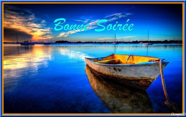 Bonne soirée à tous et toutes