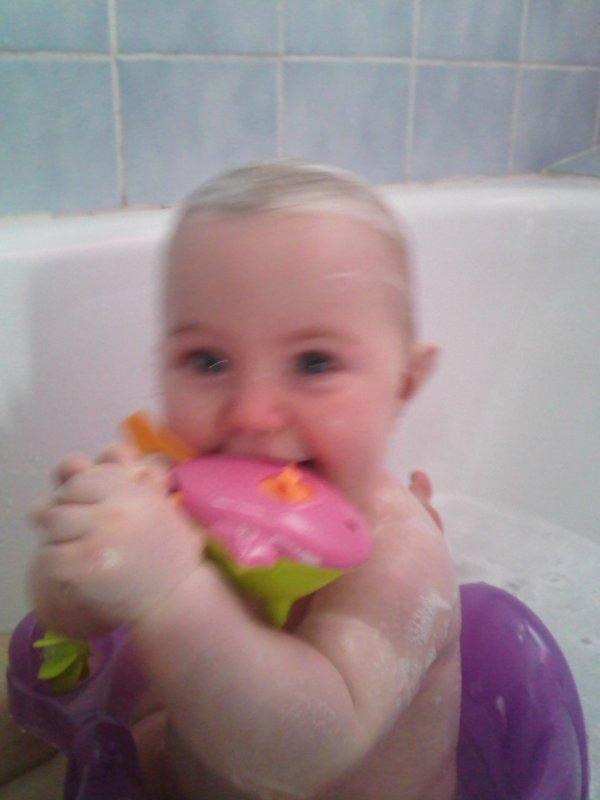 mon amours dans son bain