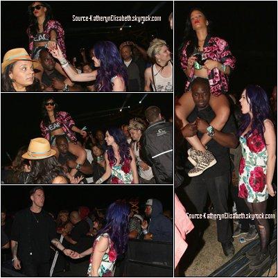 22.04.2012.: Katy était présente au Festival Coachella 2012.