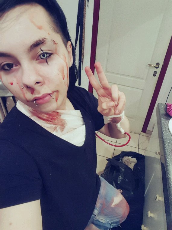 Maquillage a l'arrache, Happy Halloween