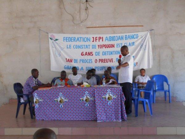 SÉMINAIRE DE FORMATION POLITIQUE DE LA JFPI ABIDJAN-BANCO.