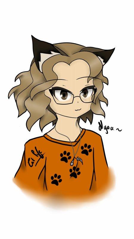 Moi en mode chat (L'atelier dessin)