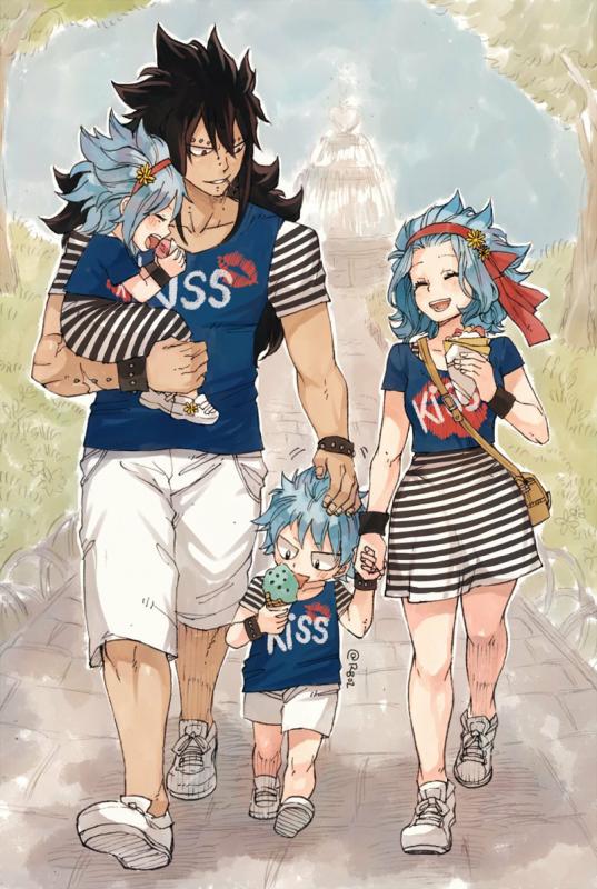 Cette famille est juste adorable >~<
