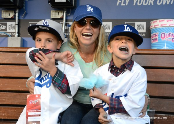 Britney Spears et ses fils transformés en fans de baseball