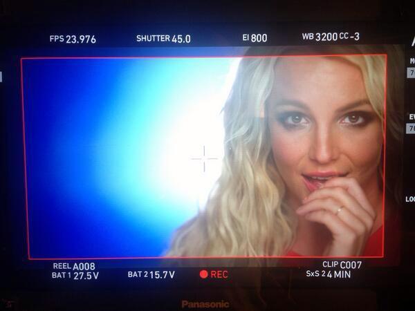 Britney Spears en plein tournage pour 'Ooh La La'