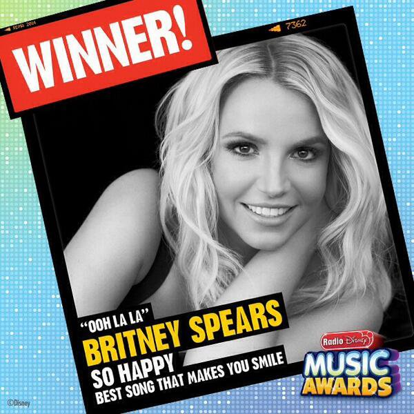 Britney remporte un prix aux Radio Disney Music Awards