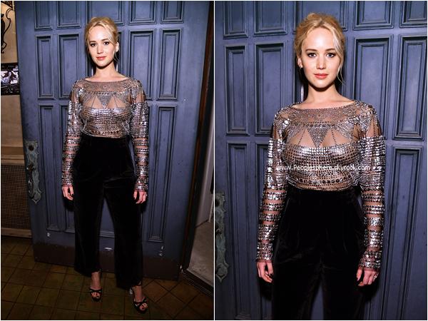 - 25/02/2016 : Jennifer Lawrence assistant au The Dinner For Equality à Beverly Hills. -