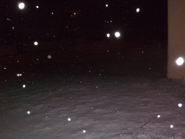 la neige hier matin