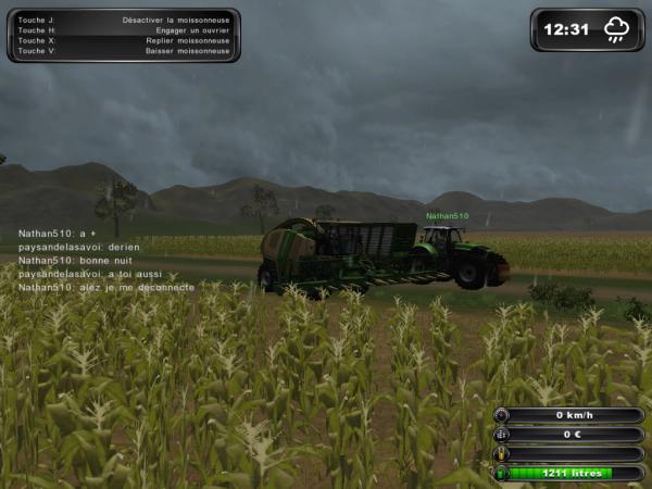 Partie multijoueur  sur farming simulator 2011 édition platinum avec moi , chasse-agri-73 , farmingjojo et nathan510