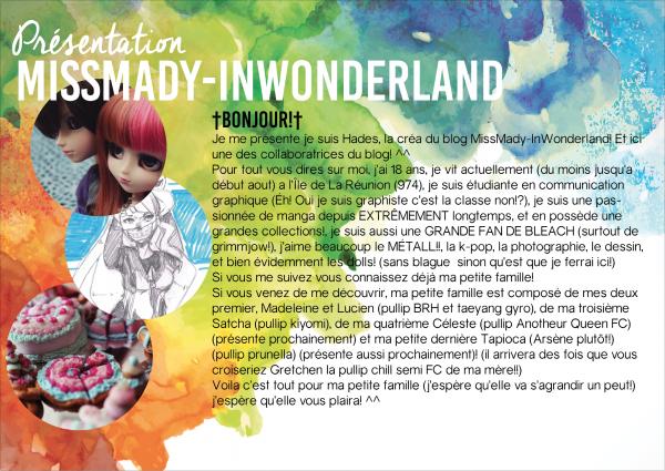 Présentation MissMady-InWonderland!
